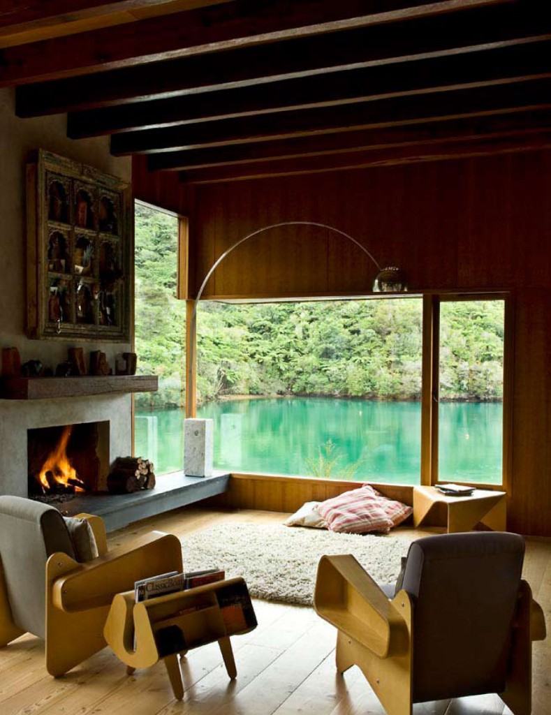 Pete bossley architects waterfall bay house flodeau for Room design nz