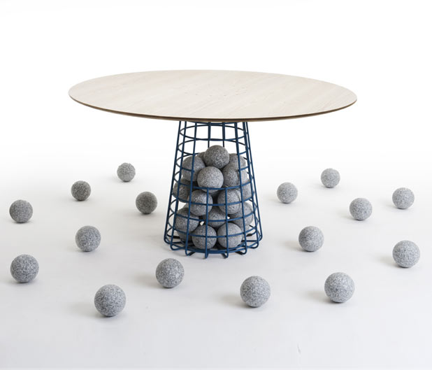Benjamin Hubert : Gabion table – Flodeau