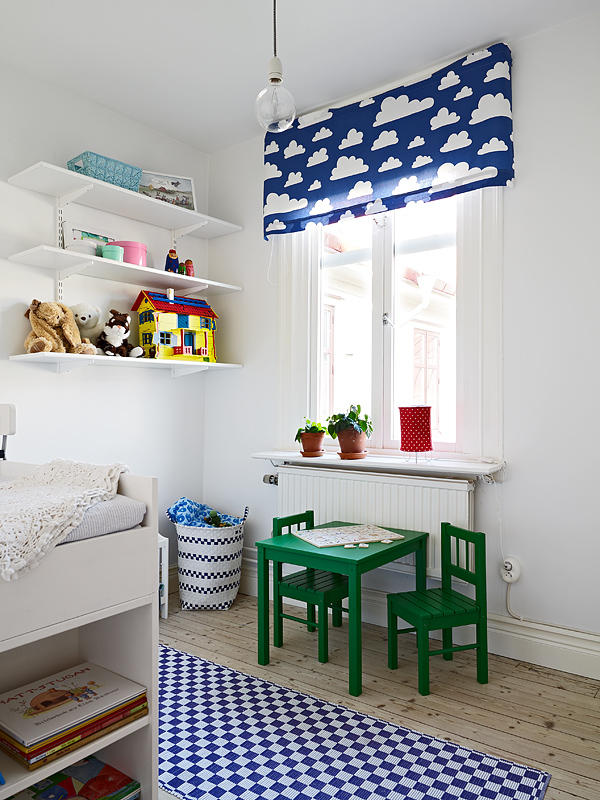 Lshaped bunk bed for low ceiling room. Kid's Room