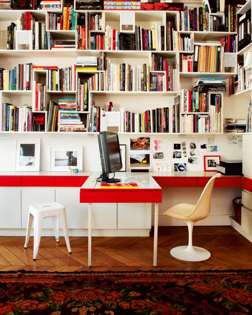 Quick dose of inspiration 23 office office office for Bibliotheque bureau integre