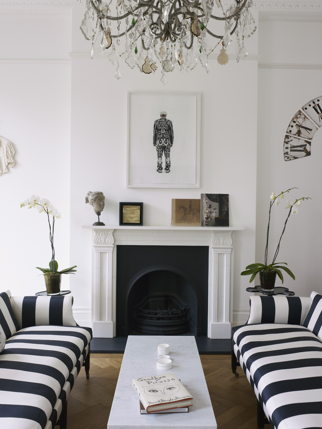 Modern Black House Bright Accents Harriet Anstruther A Bright And Modern 1840s London Town House HOME