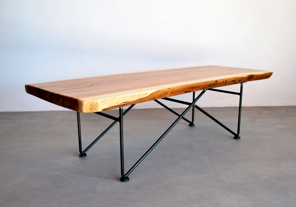 Jamey Garza Modernist Furniture Out Of The Wild West Flodeau - Steel rod table legs