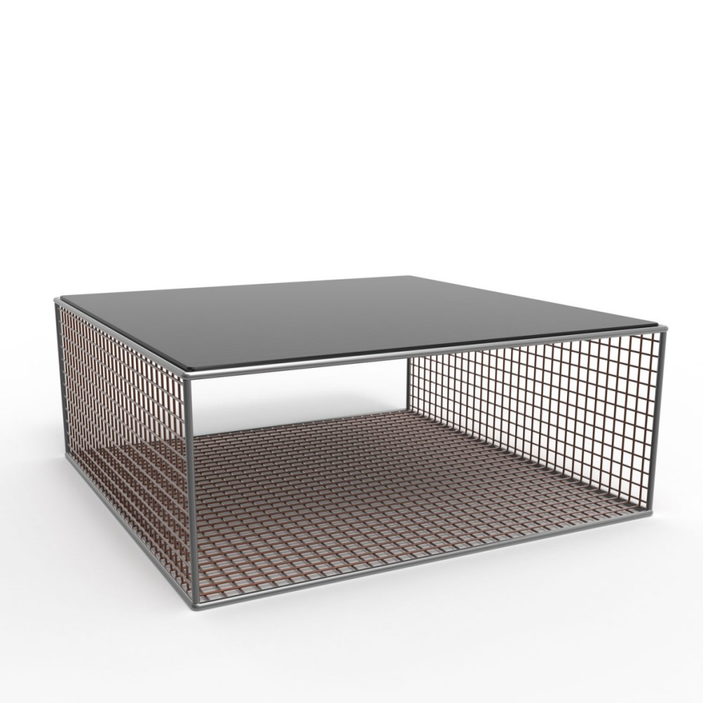 Bowles bowles wire mesh furniture collection flodeau for Wire coffee table