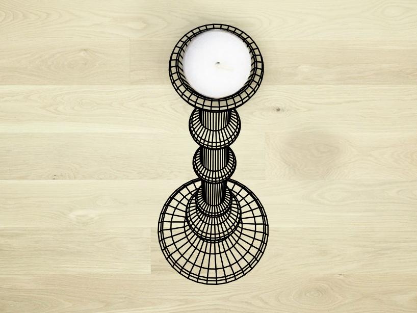 FLODEAU.COM - Flatlight Candle Holder by Studio Cheha - 03