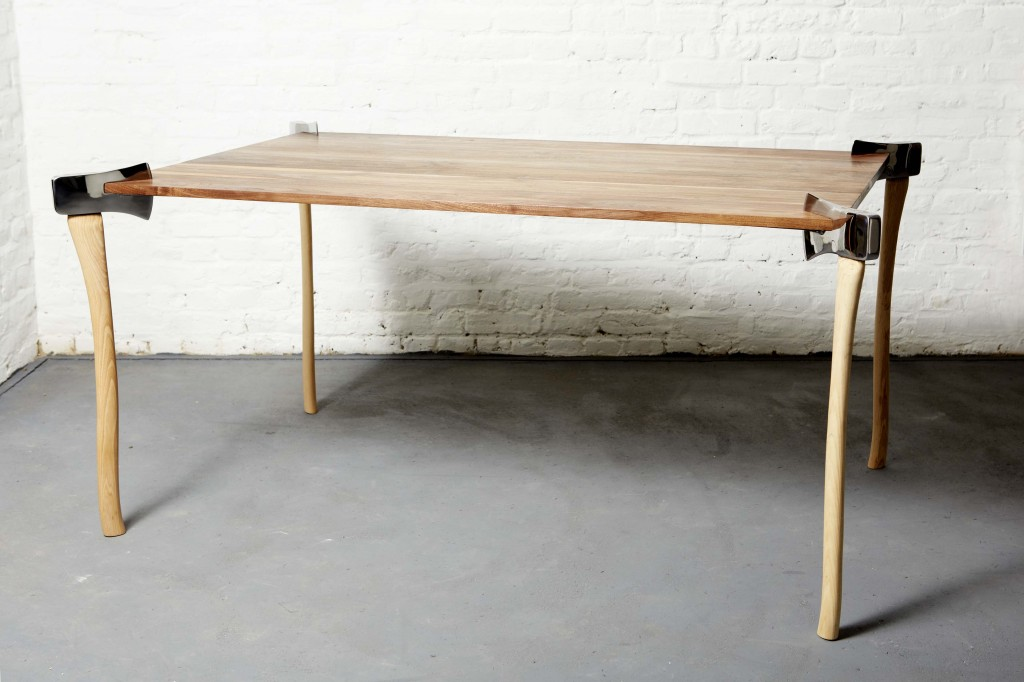 Woodsman Axe dining table by Christopher Duffy for Duffy London