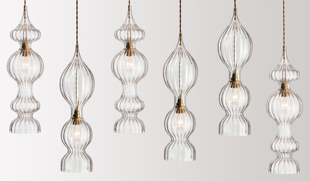 FLODEAU.COM - Handblown Glass Lighting by Rothschild Bickers 14