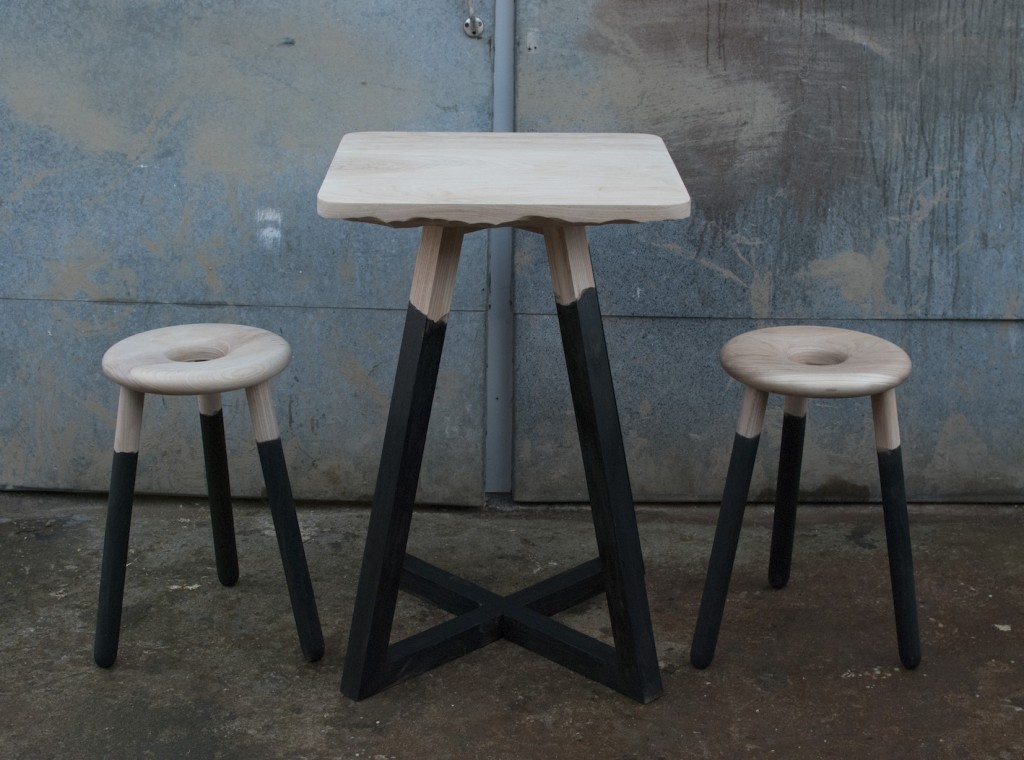 Squid Ink Table and Stools