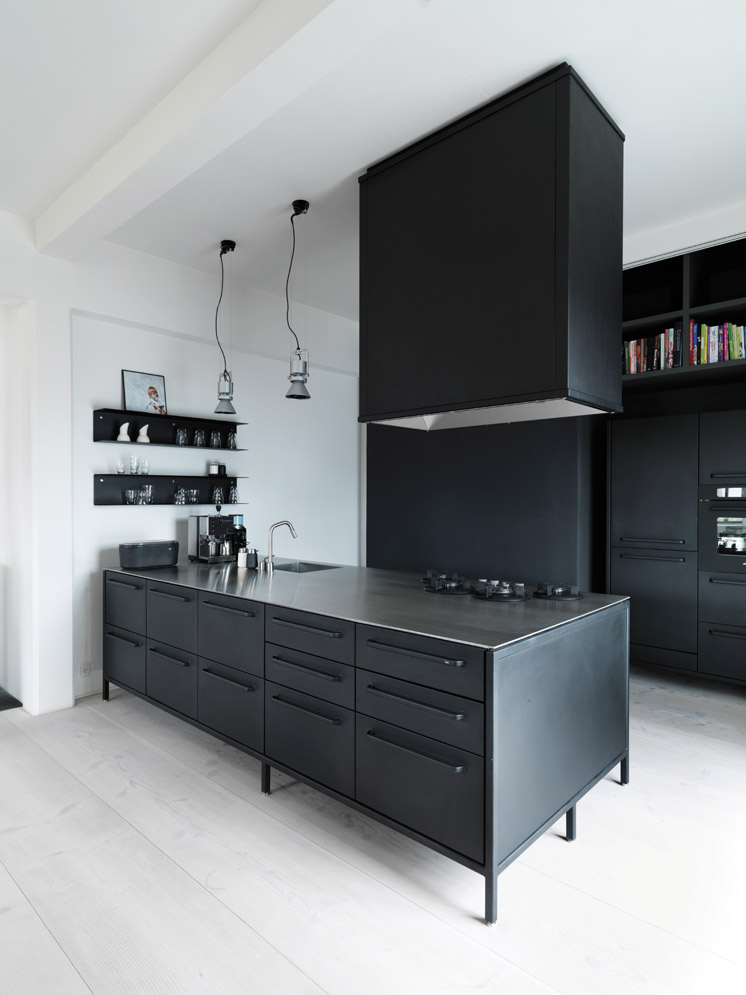 Vipp kitchen at Vipp chief designer Morten Bo Jensen's home in Copenhagen