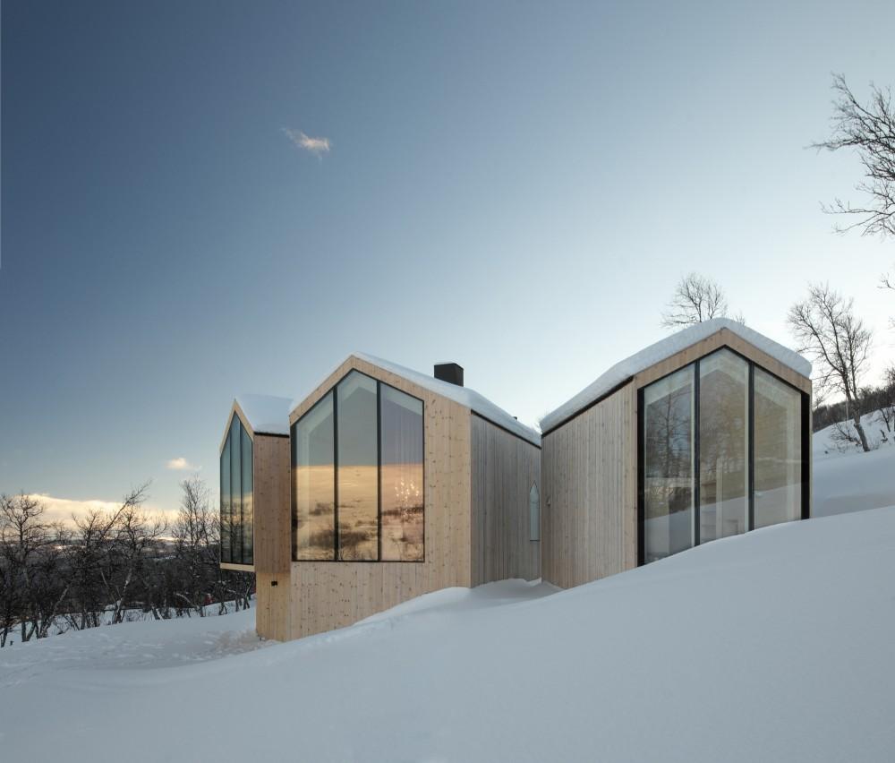 Reiulf ramstad arkitekter split view mountain lodge for Arkitekt design home