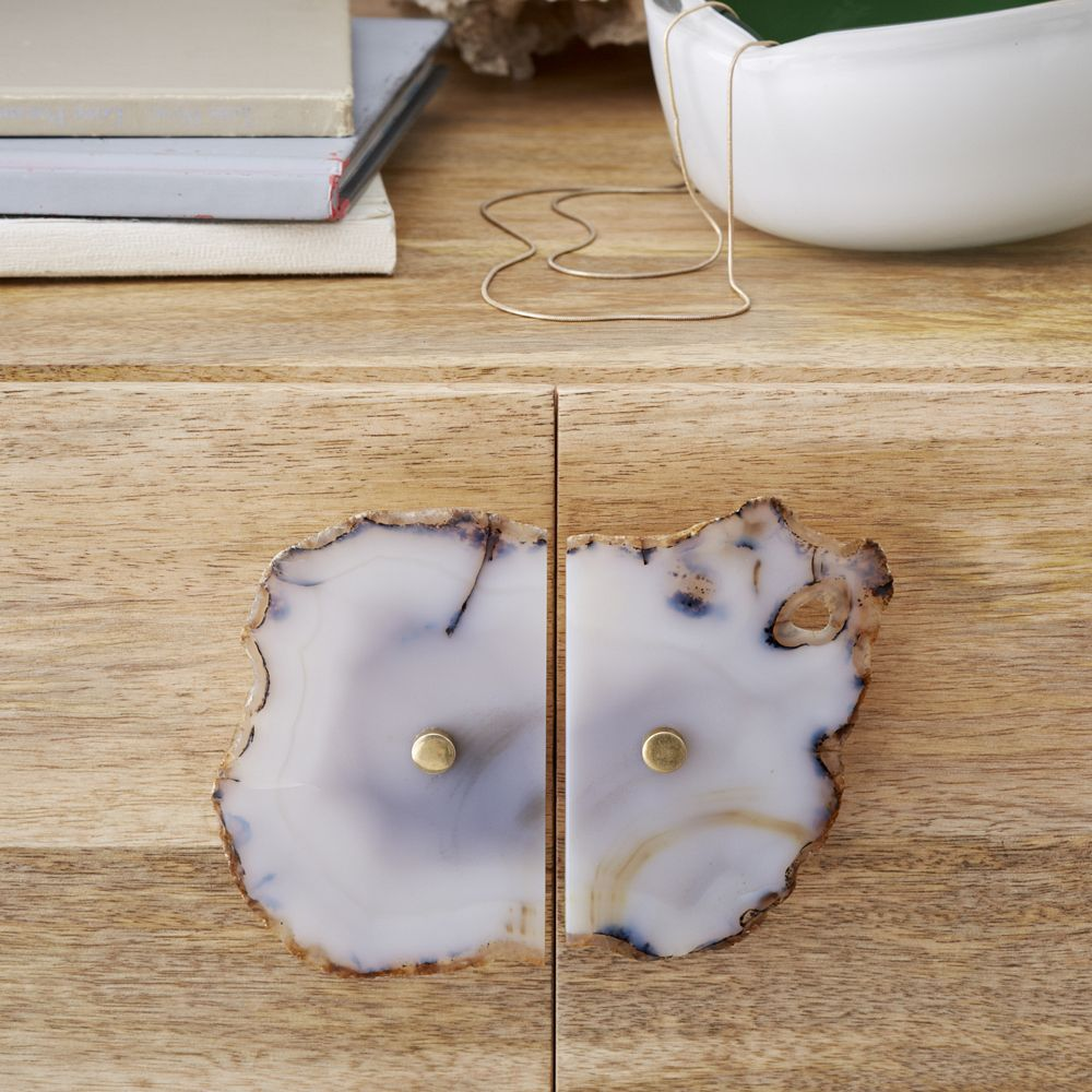 Agate Cabinet Handle - Light Gray