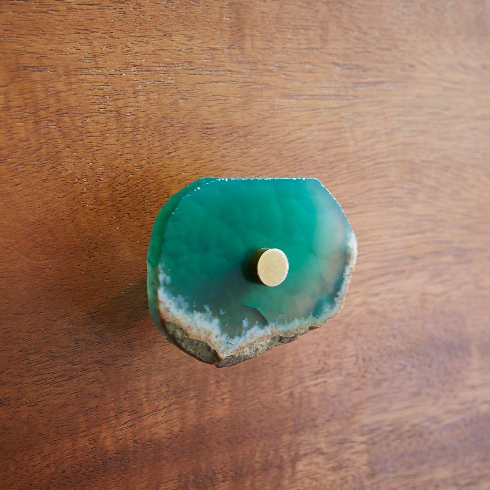 Agate Knob - Green