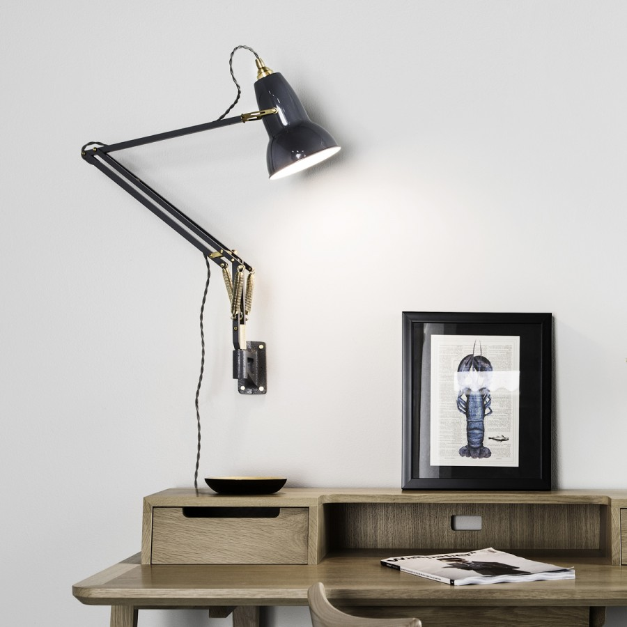 Wall Mounted Task Lamps : Anglepoise : Original 1227 Brass Collection Flodeau