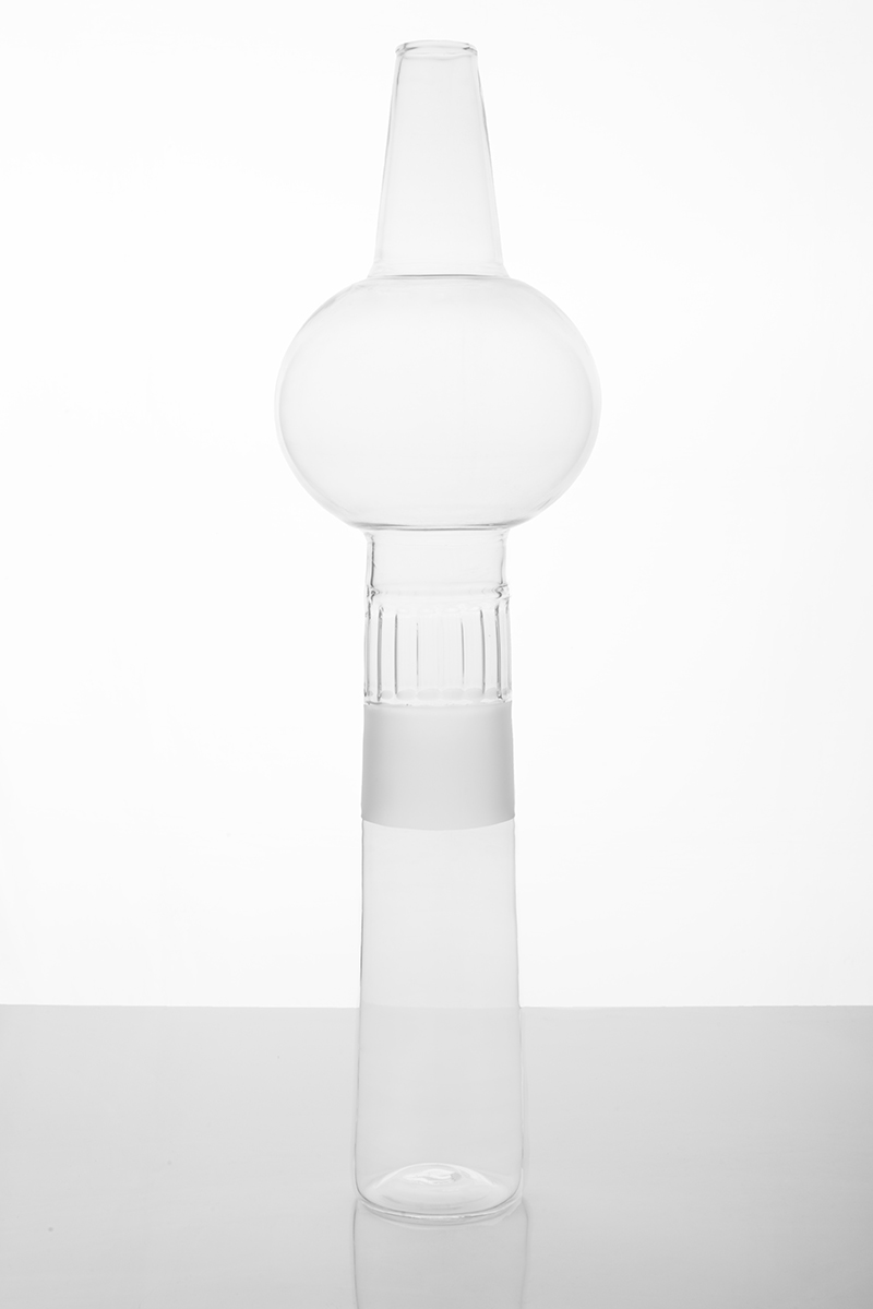 Meneghine borosilicate glass vases by Elena Salmistraro