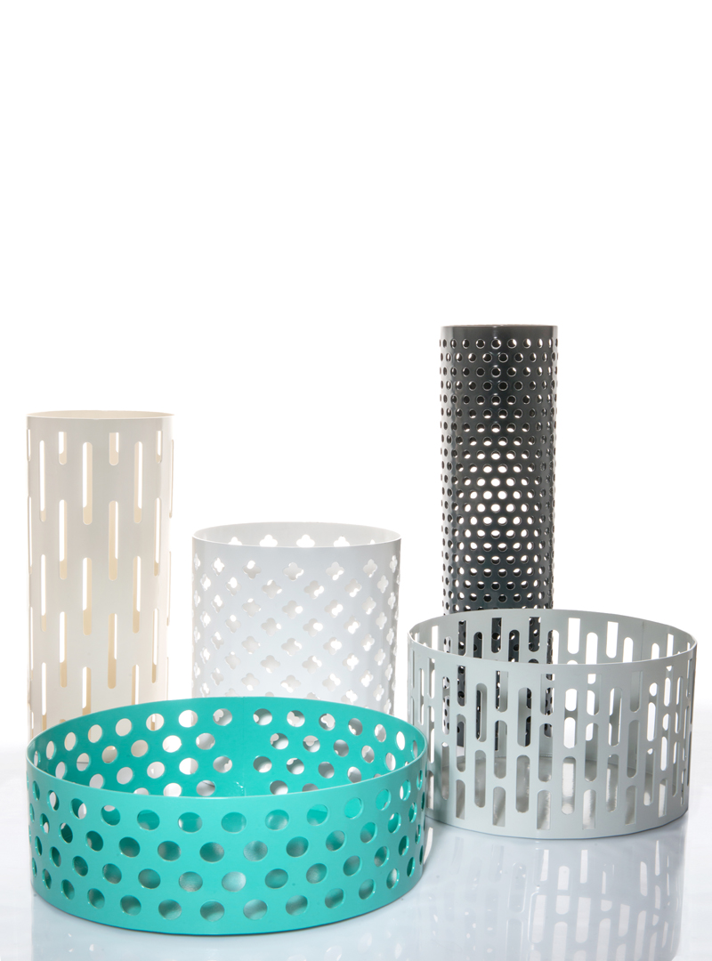Cattedrale set of iron containers by Serena Confalonieri