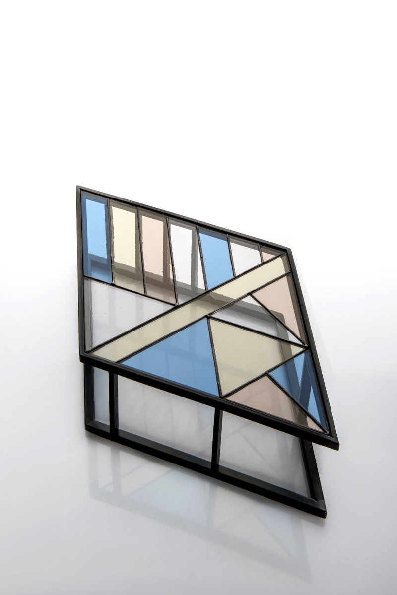 Santissimi iron and stained glass trays by Serena Confalonieri