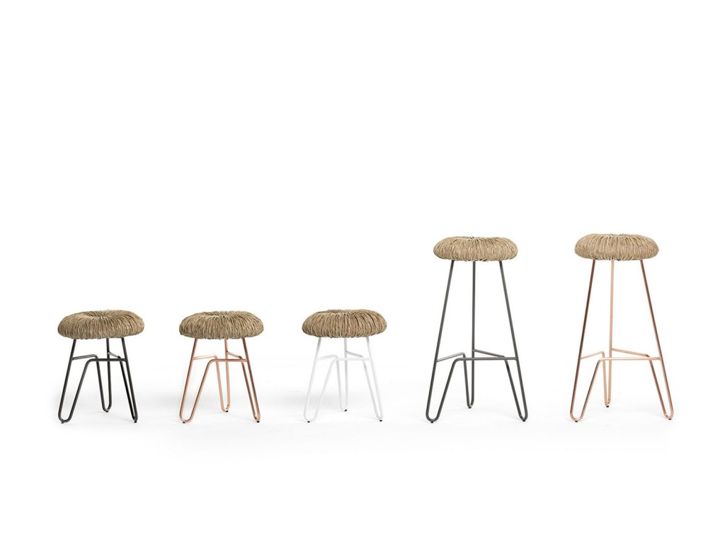 Donut straw stools by Alessandra Baldereschi for Italian label MOGG | Quick Dose of Inspiration #43 | Flodeau.com