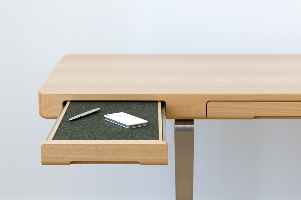 Felt Drawer - Arnon Desk by Piet Houtenbos