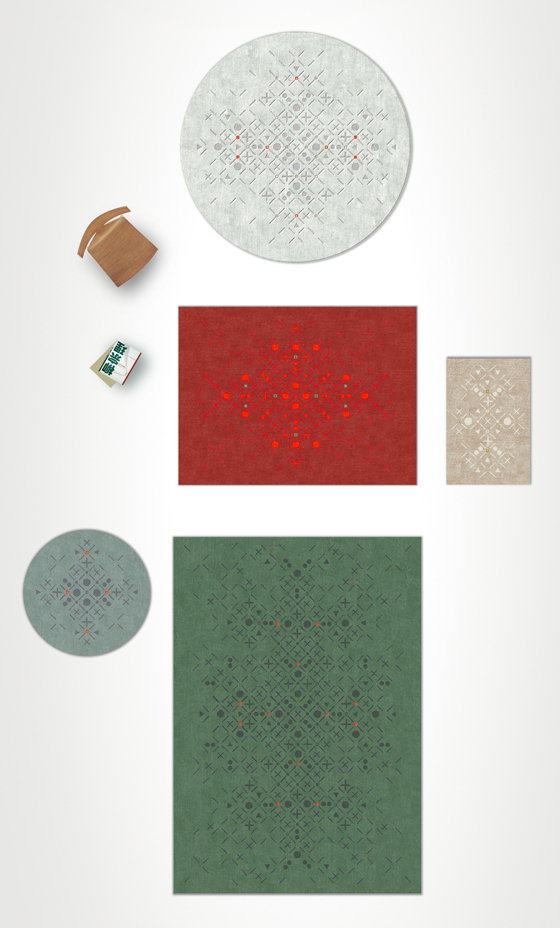 Persy rugs by Sam Accoceberry for Chevalier édition