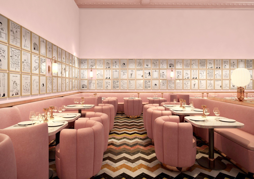 India Mahdavi and David Shrigley : The Gallery Restaurant at Sketch