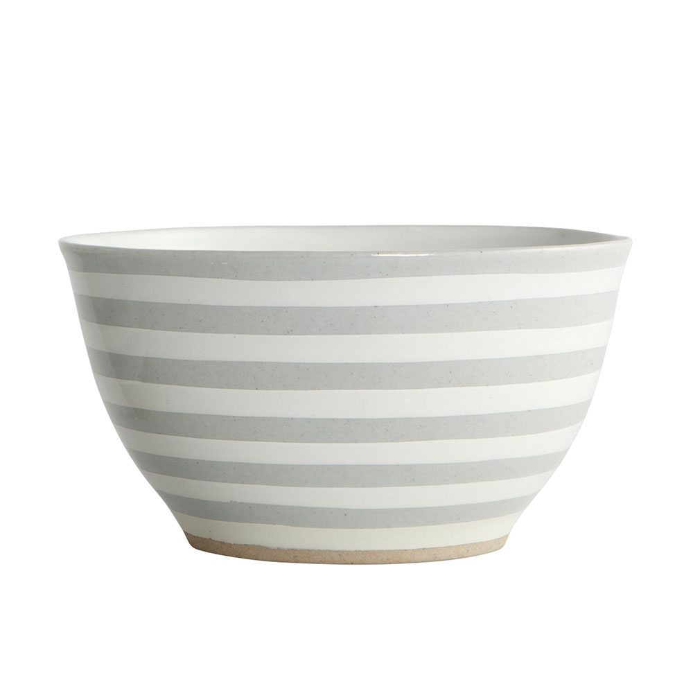 Stone Stripe salad bowl by House Doctor