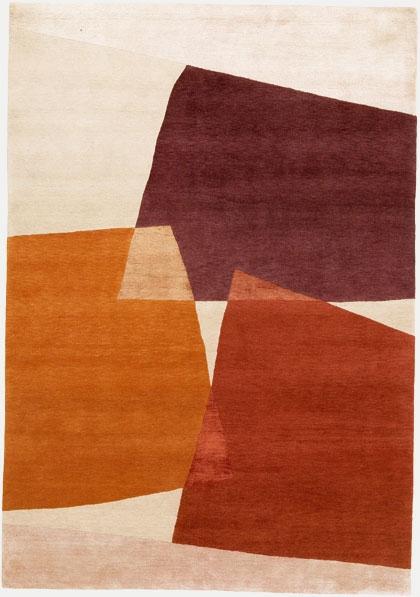 Patterned handmade rug by London-based Deirdre Dyson
