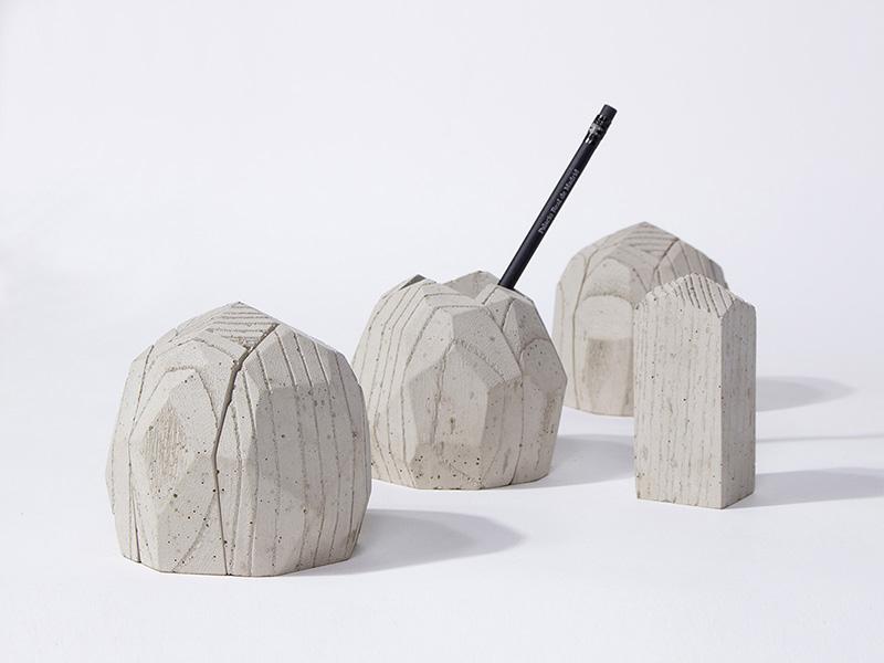 ConcreteAge pencil vase and desk accessories by Jinsik Kim | Flodeau.com
