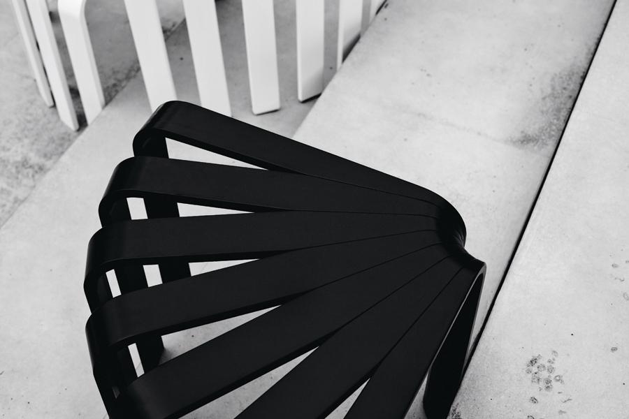 Fan stool by Cilla Eklund - BEdesign | Flodeau.com