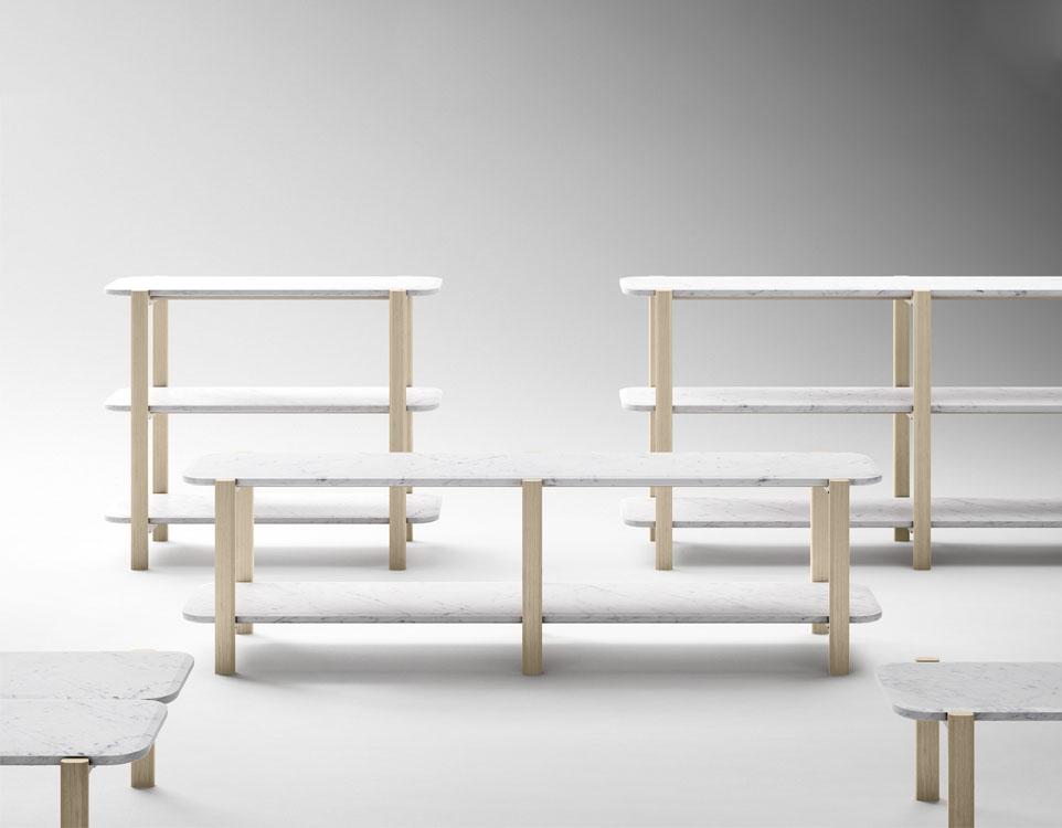 Sylvain Willenz for Retegui : Alaka shelves and coffee tables | Flodeau.com