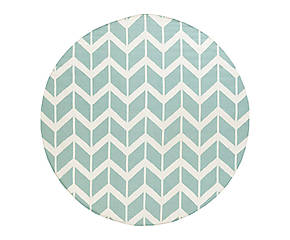 Round rug ZEK by Jill Rosenwald for Surya