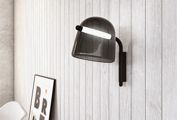 Mona light in its wall version by Lucie Koldova for Brokis | Flodeau.com #MDW2015