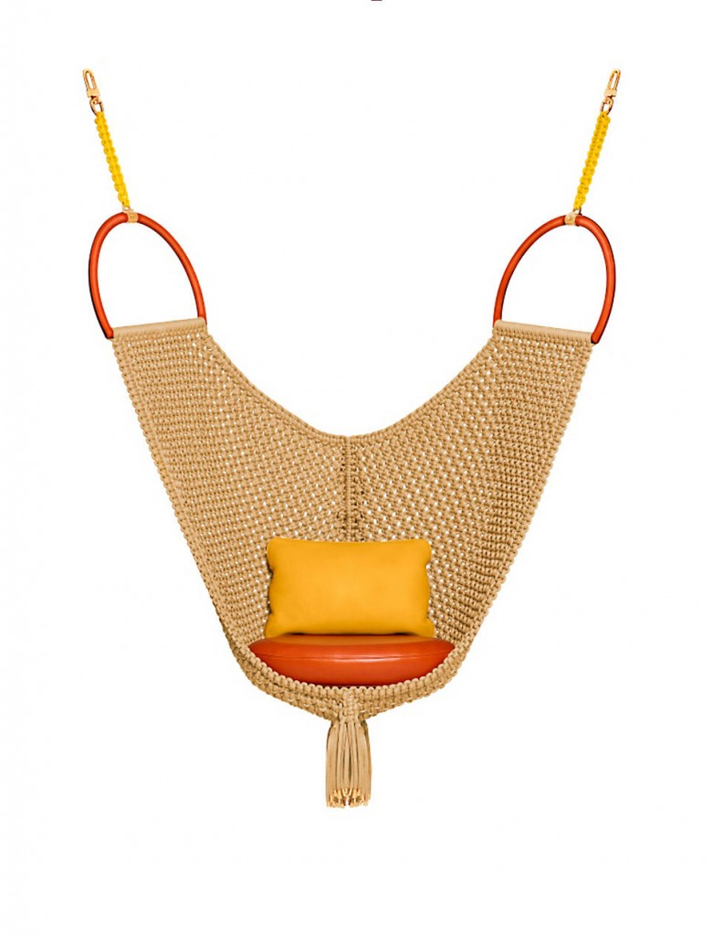 Swing chair by Patricia Urquiola for Louis Vuitton's new collection of Objets Nomades | Flodeau.com #MDW2015