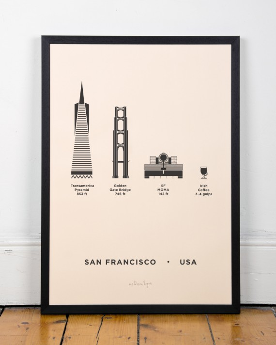 San Francisco City Poster by me&him&you | Flodeau.com