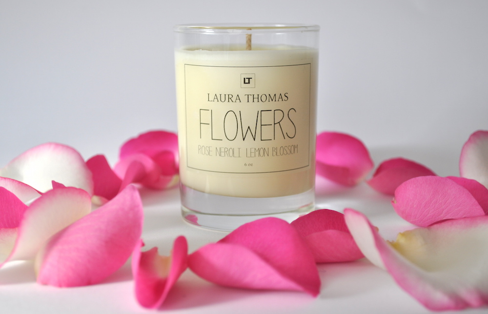 Flowers Soy Wax Candle by Laura Thomas | Flodeau.com