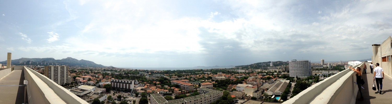 View from La Cité Radieuse rooftop // A Trip to Marseille #choosemarseille | Flodeau.com