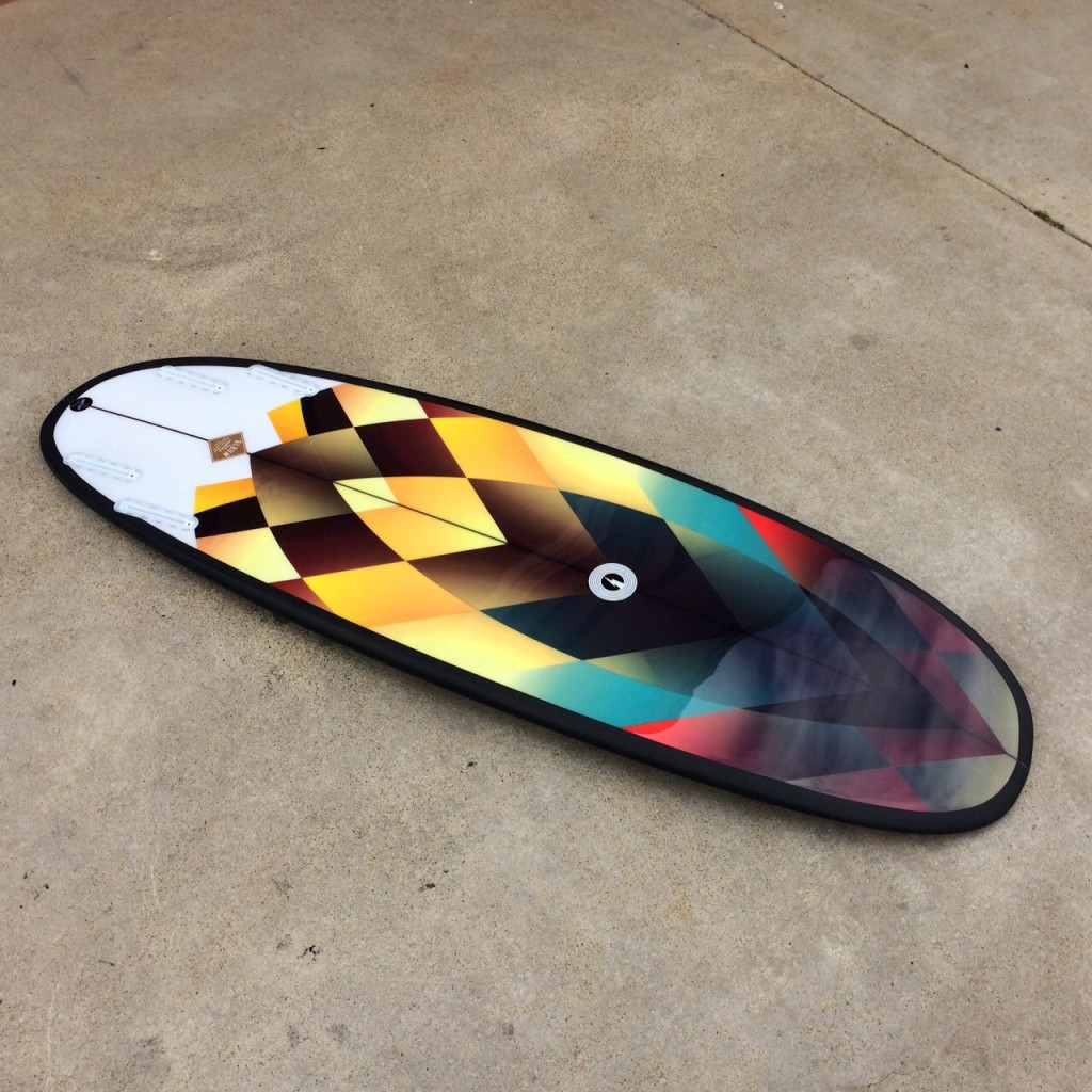 "5'6""SUB illustrated by Pierre Kiandjan // Matt Parker - Album Surfboards 