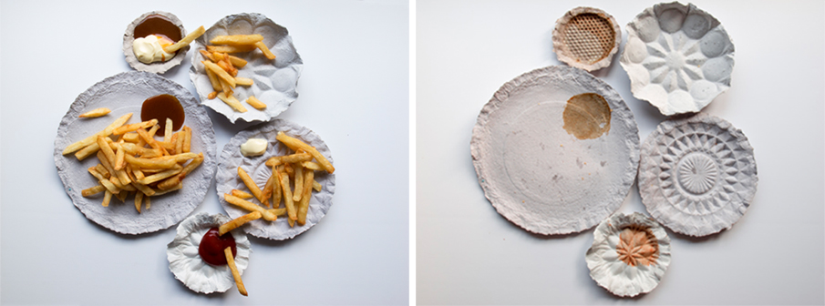 The Mold paper plates by Liu Hsuantzu | Flodeau